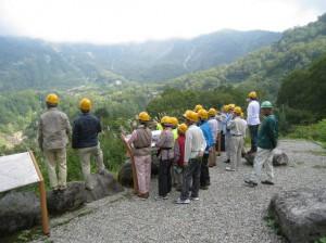 立山カルデラ内の六九谷展望台からカルデラ内砂防施設等を見学