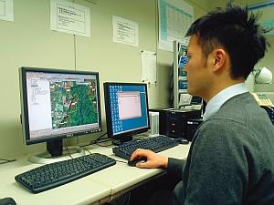 基礎調査データを確認し、管理 システム登録形式に変換処理の状況
