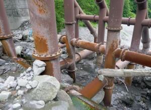 鋼製構造物鋼製フレームの変形