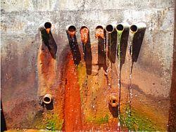 集水孔口がスライムにより閉塞